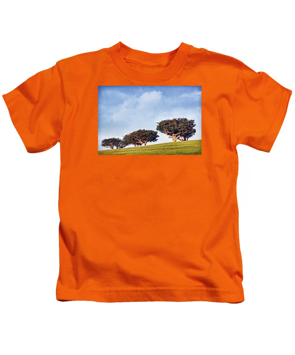 Trees Kids T-Shirt featuring the photograph Glorious Morning Pnt by Theo O'Connor