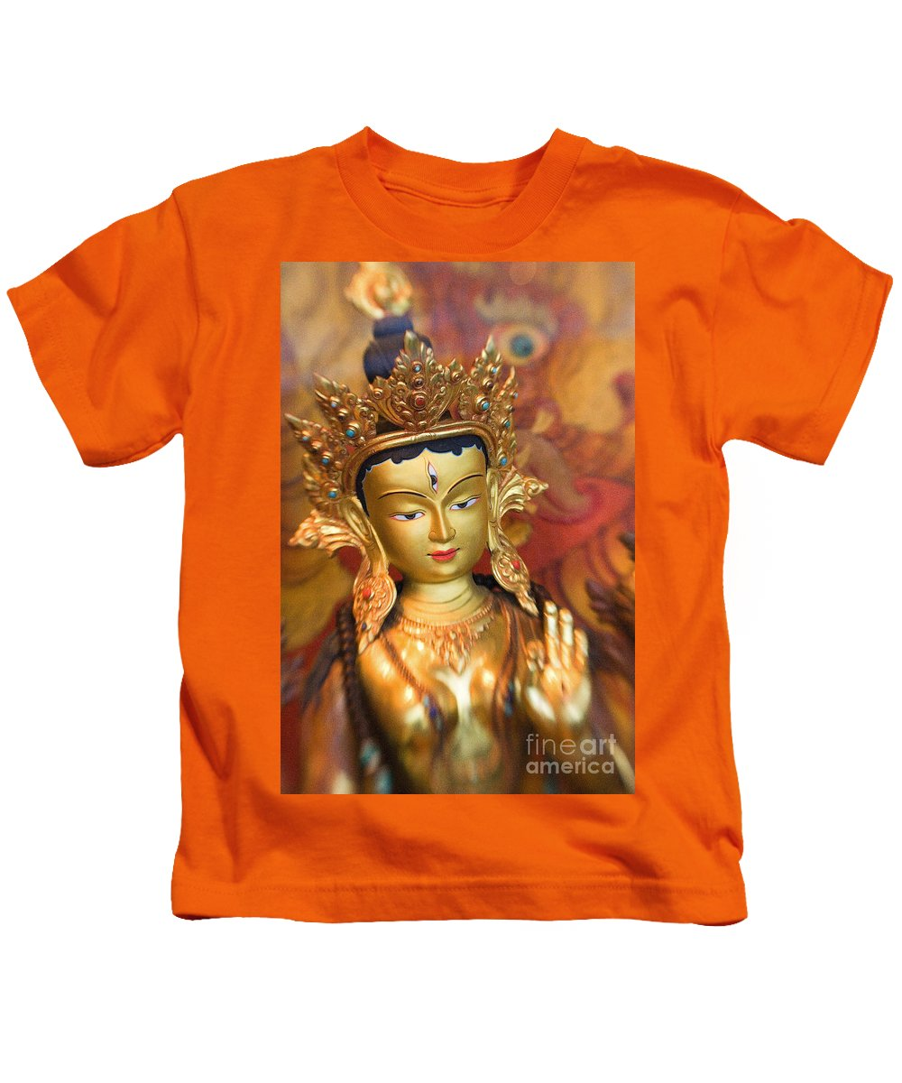 Adorn Kids T-Shirt featuring the photograph Golden Sculpture by Ron Dahlquist - Printscapes