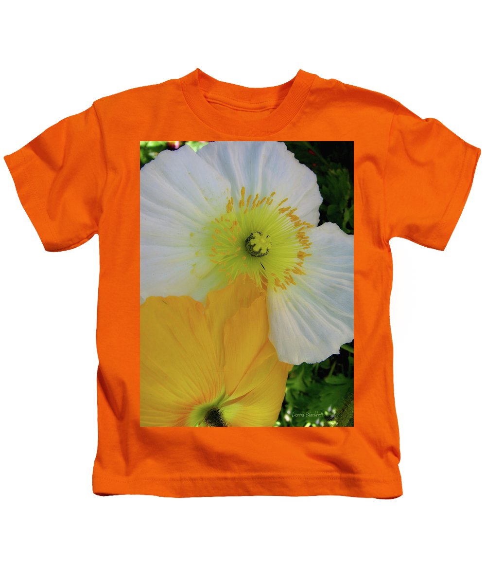 Poppies Kids T-Shirt featuring the photograph Love In The Afternoon by Donna Blackhall