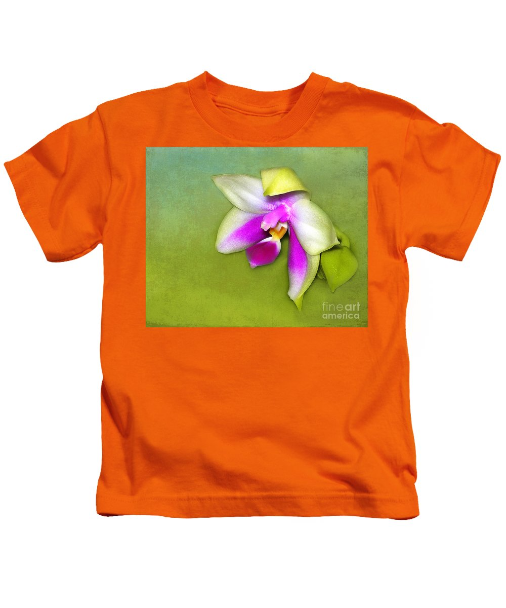 Orchid Kids T-Shirt featuring the photograph Shy Orchid by Judi Bagwell