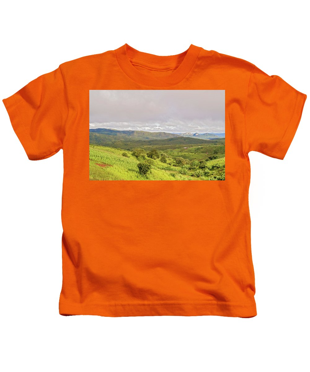 Rock Kids T-Shirt featuring the photograph Rural Landscape In Malawi by Marek Poplawski
