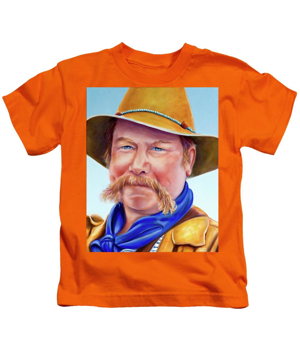 Man Kids T-Shirt featuring the painting Santana Jack by Shannon Grissom