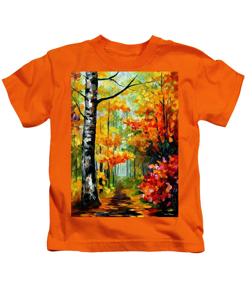 Afremov Kids T-Shirt featuring the painting Soul Time by Leonid Afremov