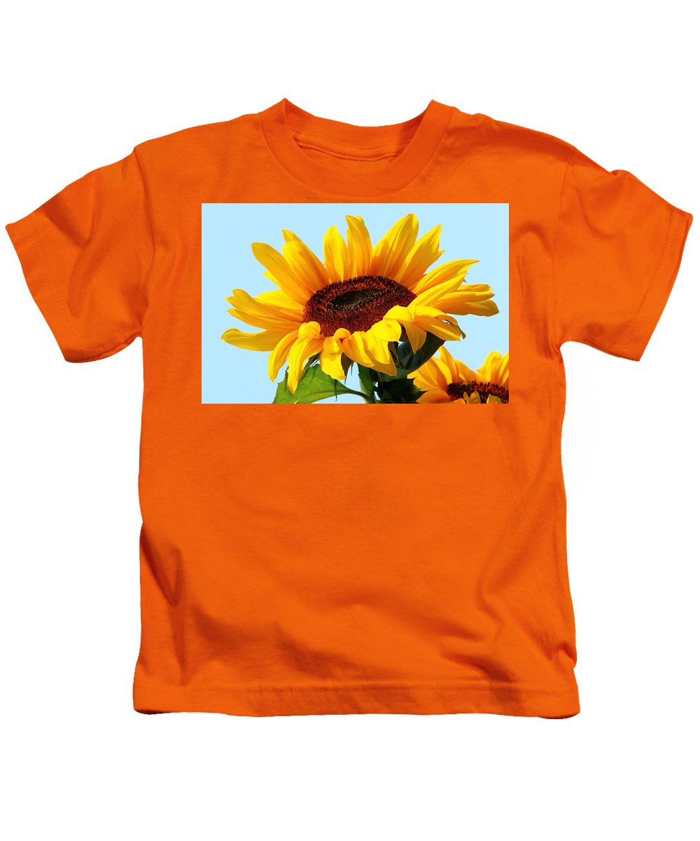 Image Processing Kids T-Shirt featuring the photograph Sunflower by Heike Hultsch
