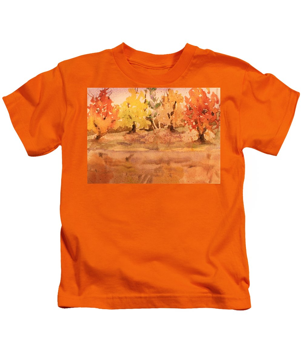 Silence Kids T-Shirt featuring the painting Thankful by Mindy Newman