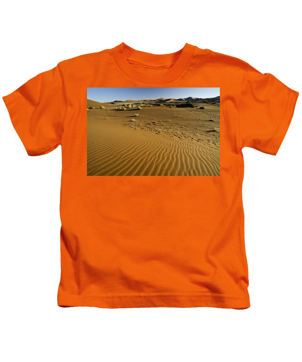 Africa Kids T-Shirt featuring the photograph The Sands Of Sossusvlei by Michele Burgess