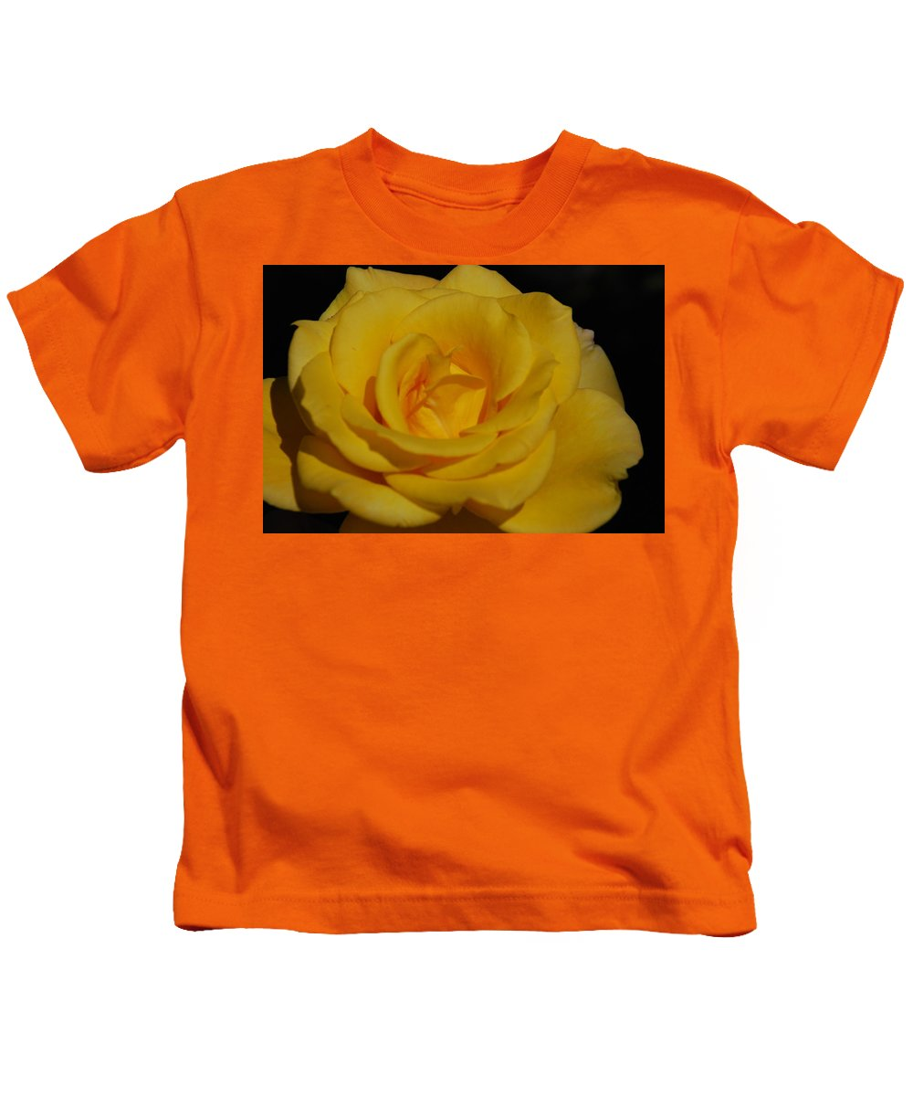 Yellow Kids T-Shirt featuring the photograph Yellow Rose by Carol Eliassen
