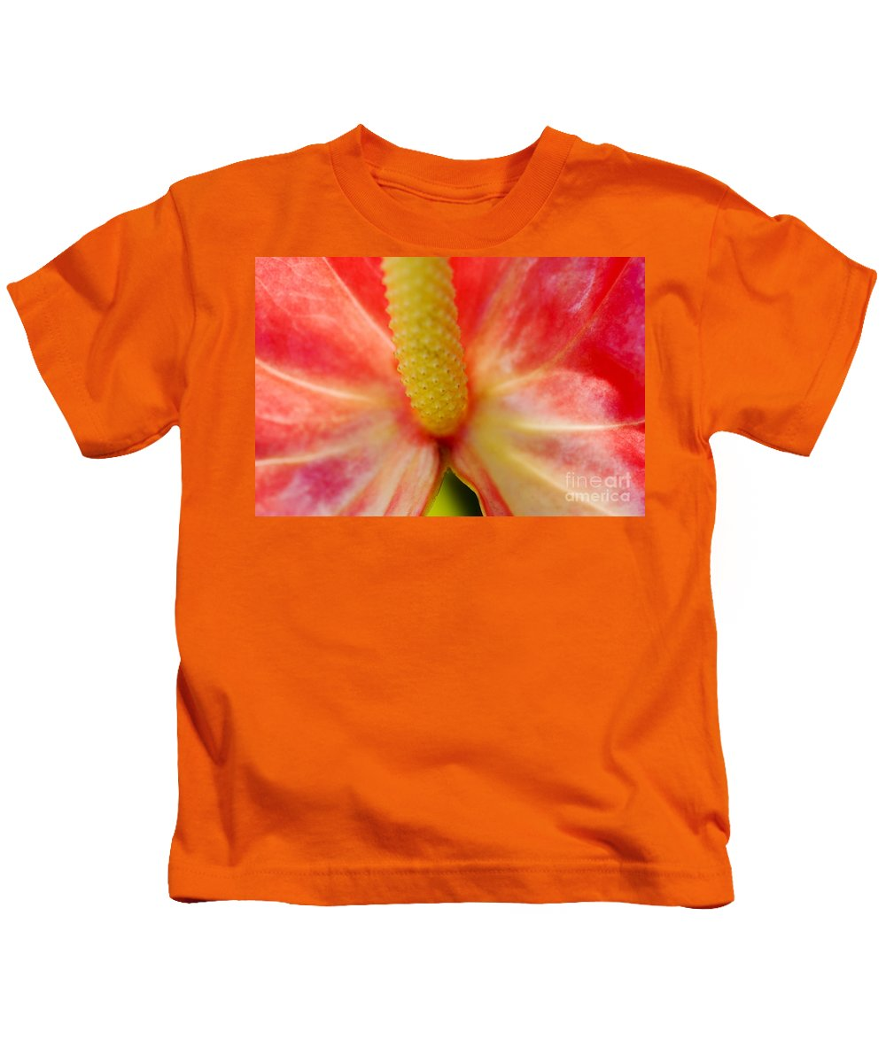Abstract Kids T-Shirt featuring the photograph Flower Abstract by Ray Laskowitz - Printscapes