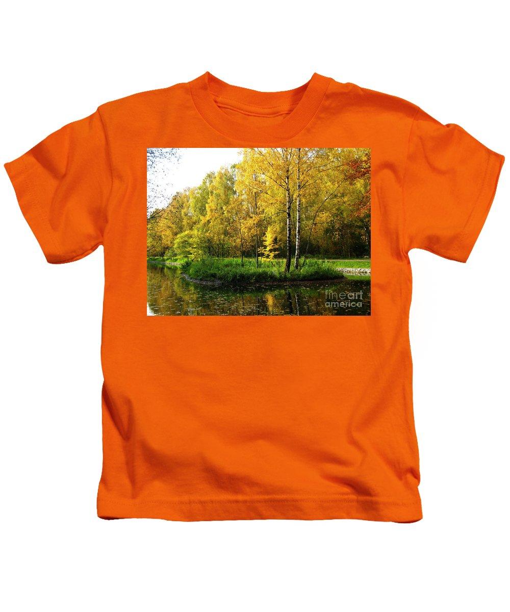 Autumn Kids T-Shirt featuring the photograph Autumn Landscape by Irina Afonskaya