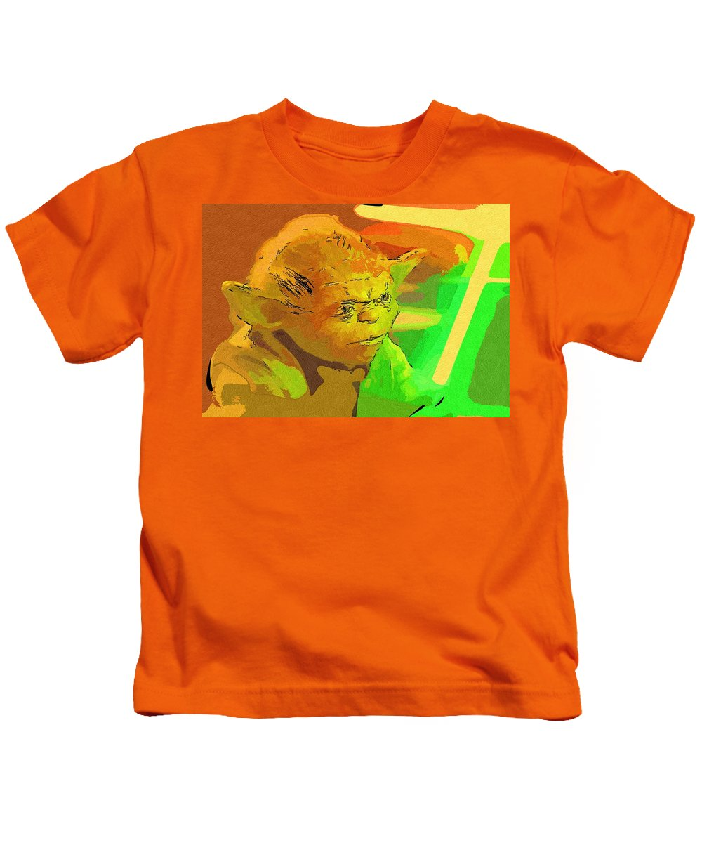Star Wars Kids T-Shirt featuring the digital art Star Wars Old Art by Larry Jones