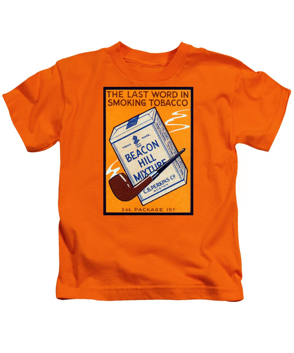 Vintage Kids T-Shirt featuring the painting 1910 Beacon Hill Pipe Tobacco by Historic Image