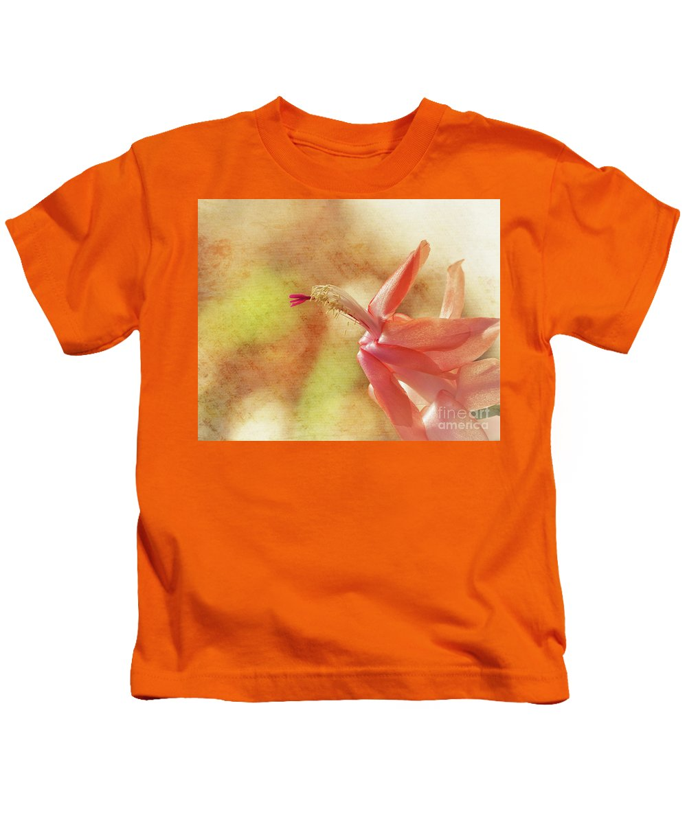 Cactus Kids T-Shirt featuring the photograph Christmas Cactus by Karen Beasley