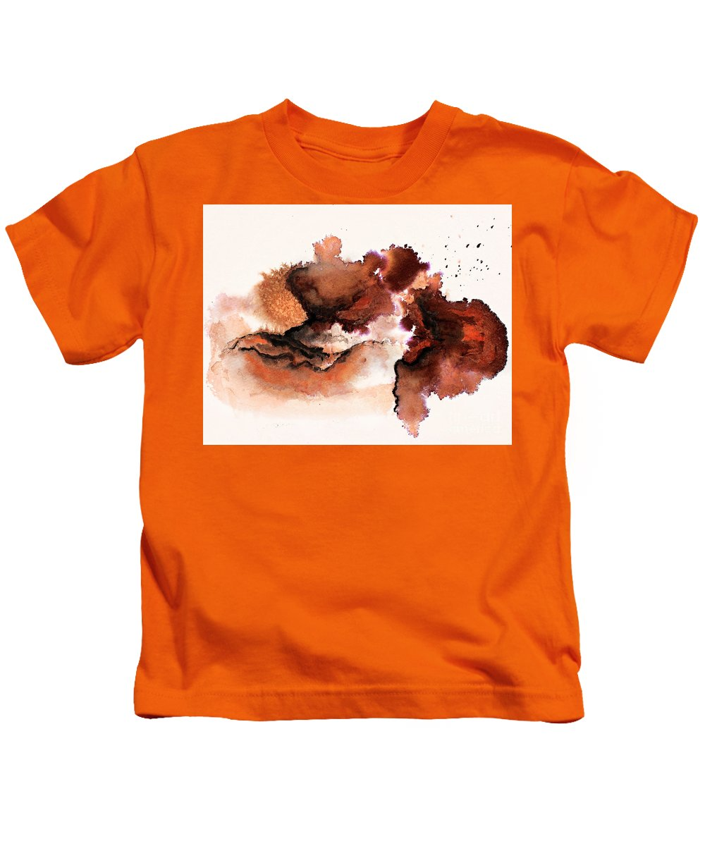 Abstract Kids T-Shirt featuring the painting Untitled by Angelina Cornidez