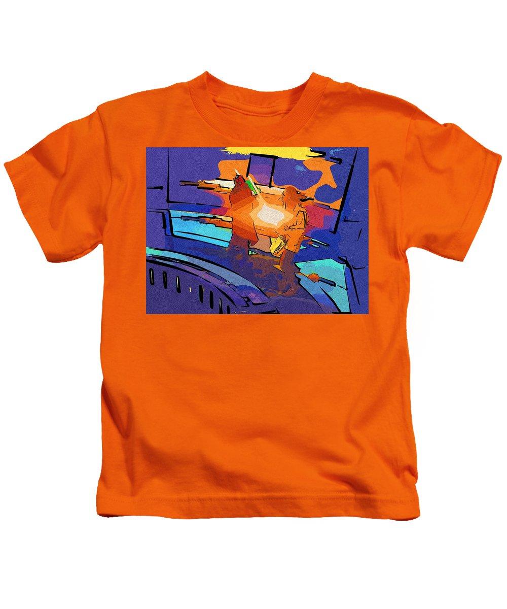 Star Wars Kids T-Shirt featuring the digital art Jedi Star Wars Poster by Larry Jones