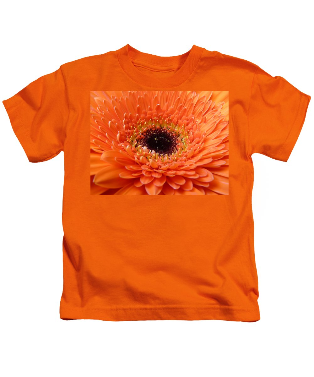 Gerbera Kids T-Shirt featuring the photograph Gerbera by Daniel Csoka