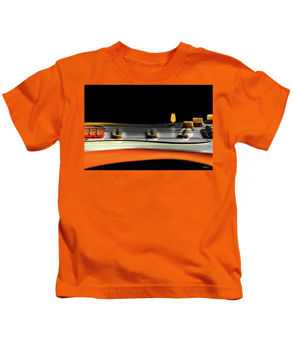 Abstract Kids T-Shirt featuring the photograph 57 Strat by Dean Arneson