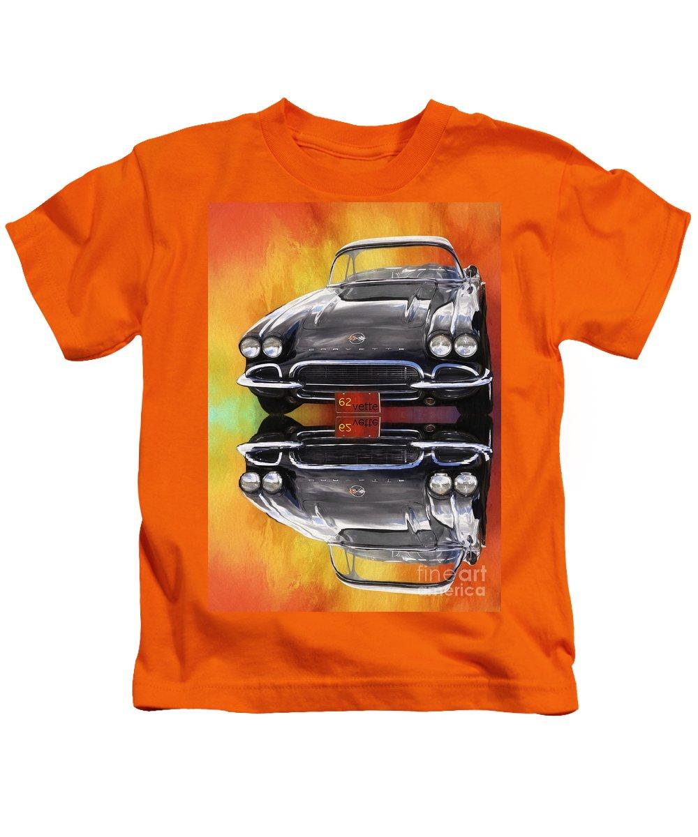 Corvette Kids T-Shirt featuring the digital art 62 Corvette by Suzanne Handel