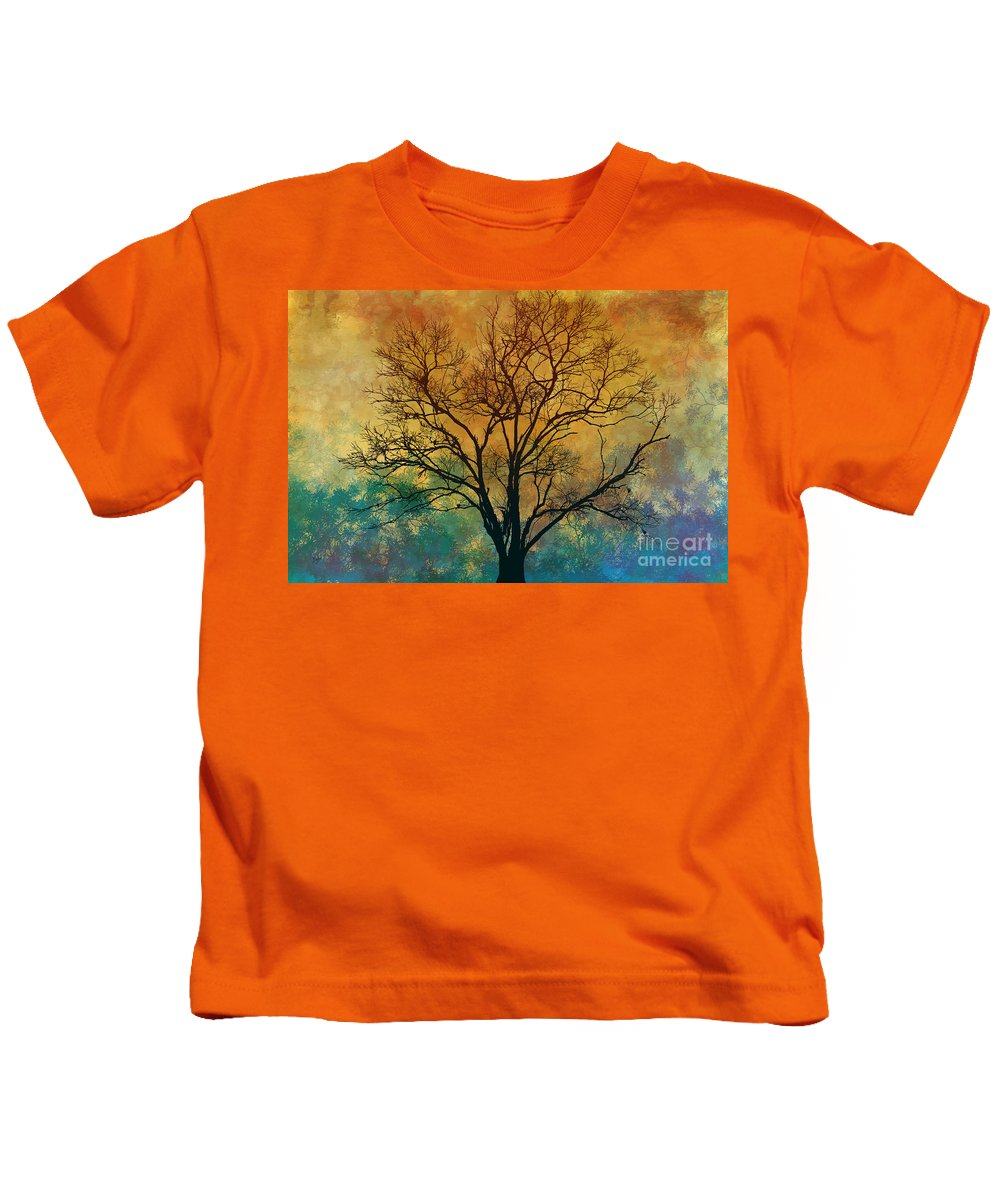 Magnificent Kids T-Shirt featuring the digital art A Magnificent Tree by Peter Awax
