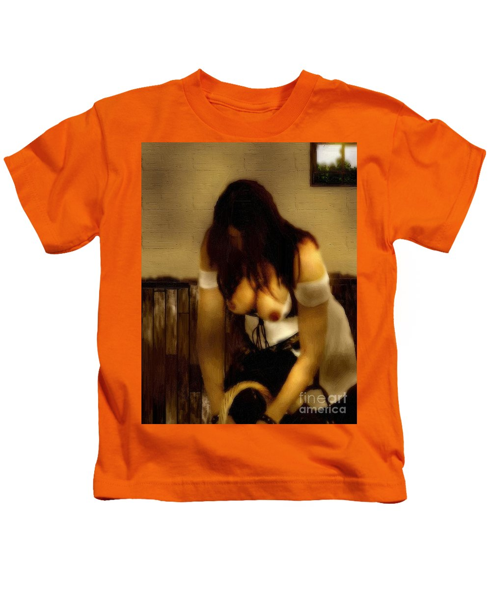 Kitchen Kids T-Shirt featuring the painting A-maying We Will Go by RC DeWinter