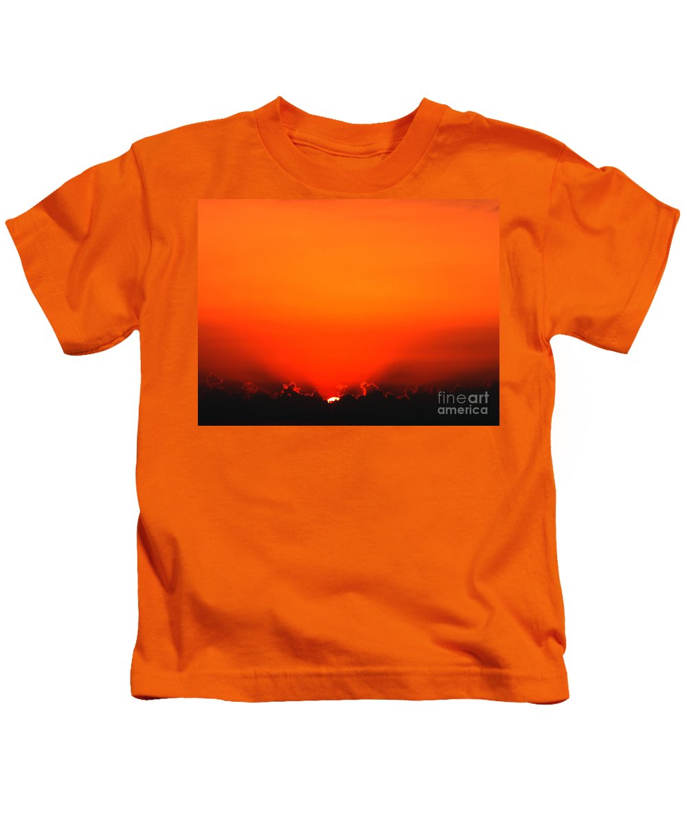 Sun Kids T-Shirt featuring the photograph A New Day by Amanda Barcon
