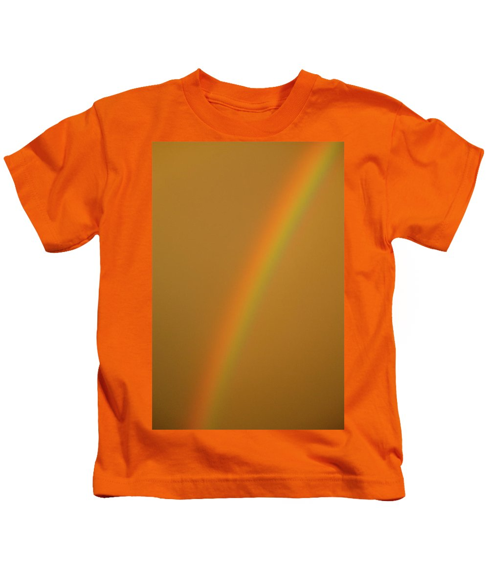 Rainbow Kids T-Shirt featuring the photograph A Sunset Rainbow by Diana Hatcher