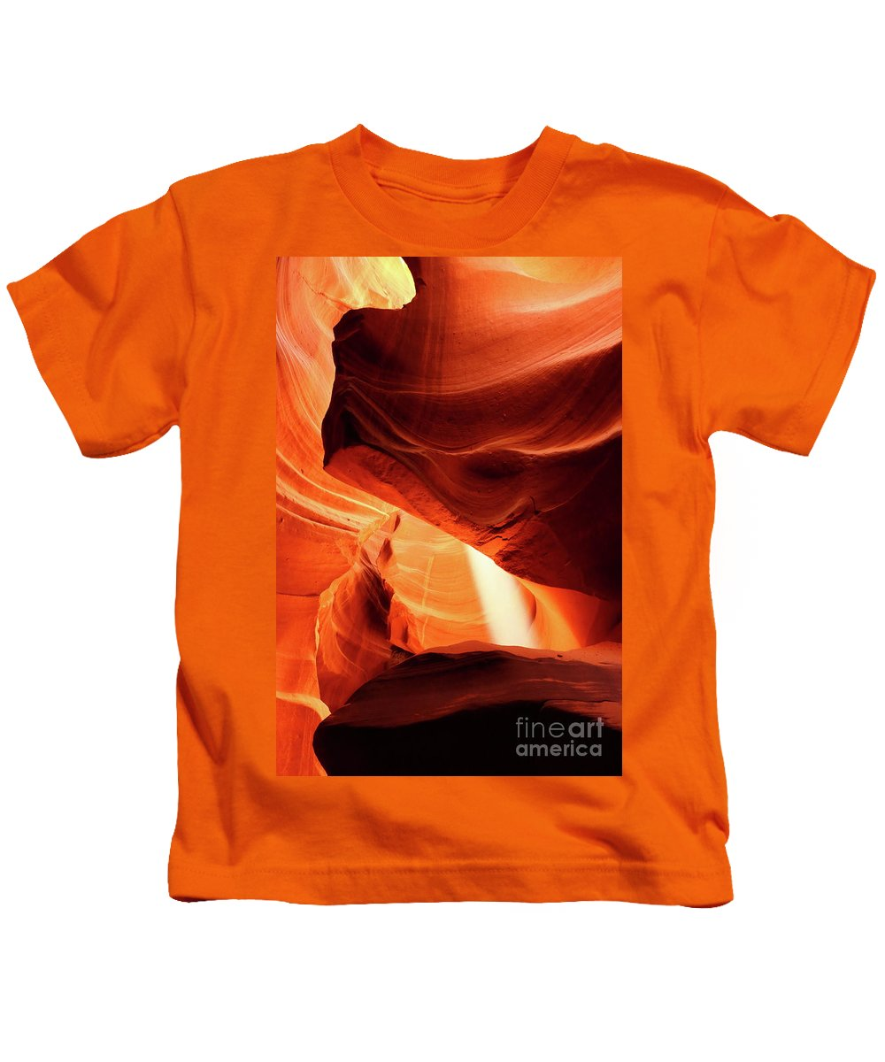 Antelope Slot Canyon Kids T-Shirt featuring the photograph A Symphony In Sandstone by Christiane Schulze Art And Photography