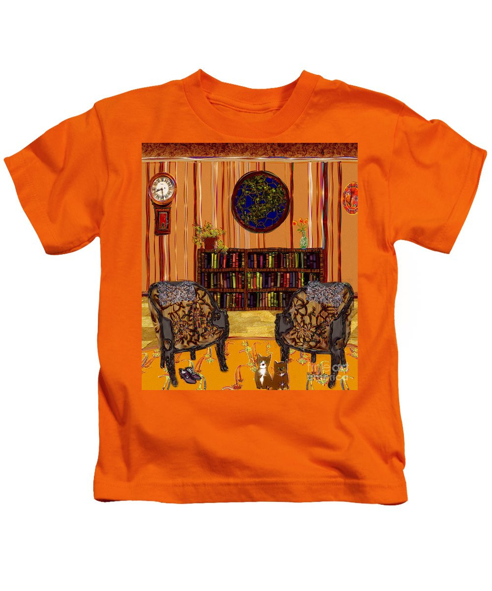 Folk Art Kids T-Shirt featuring the painting A Victorian Horror by RC DeWinter