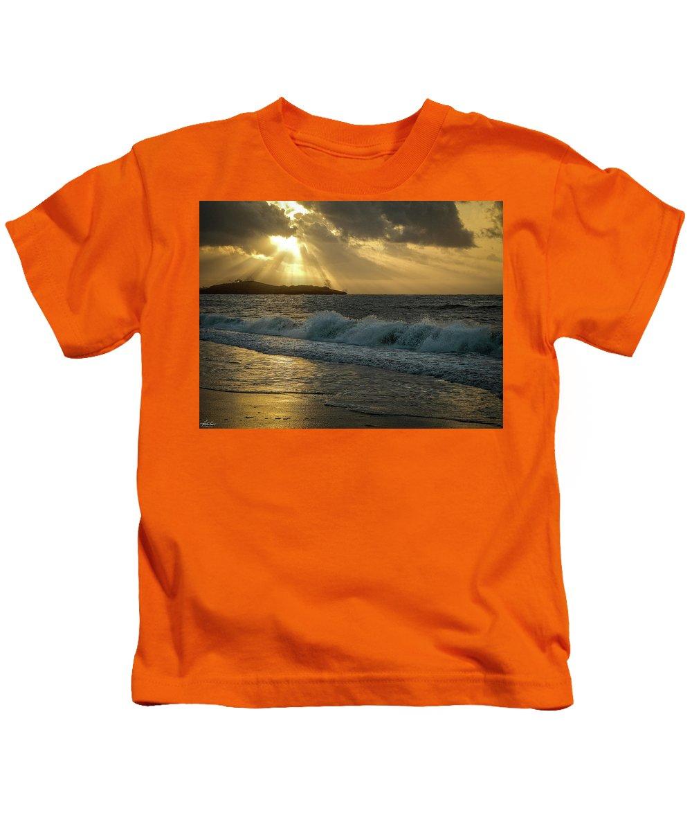 Kenya Kids T-Shirt featuring the photograph A Walk On The Kenyan Coast by Philip Rispin