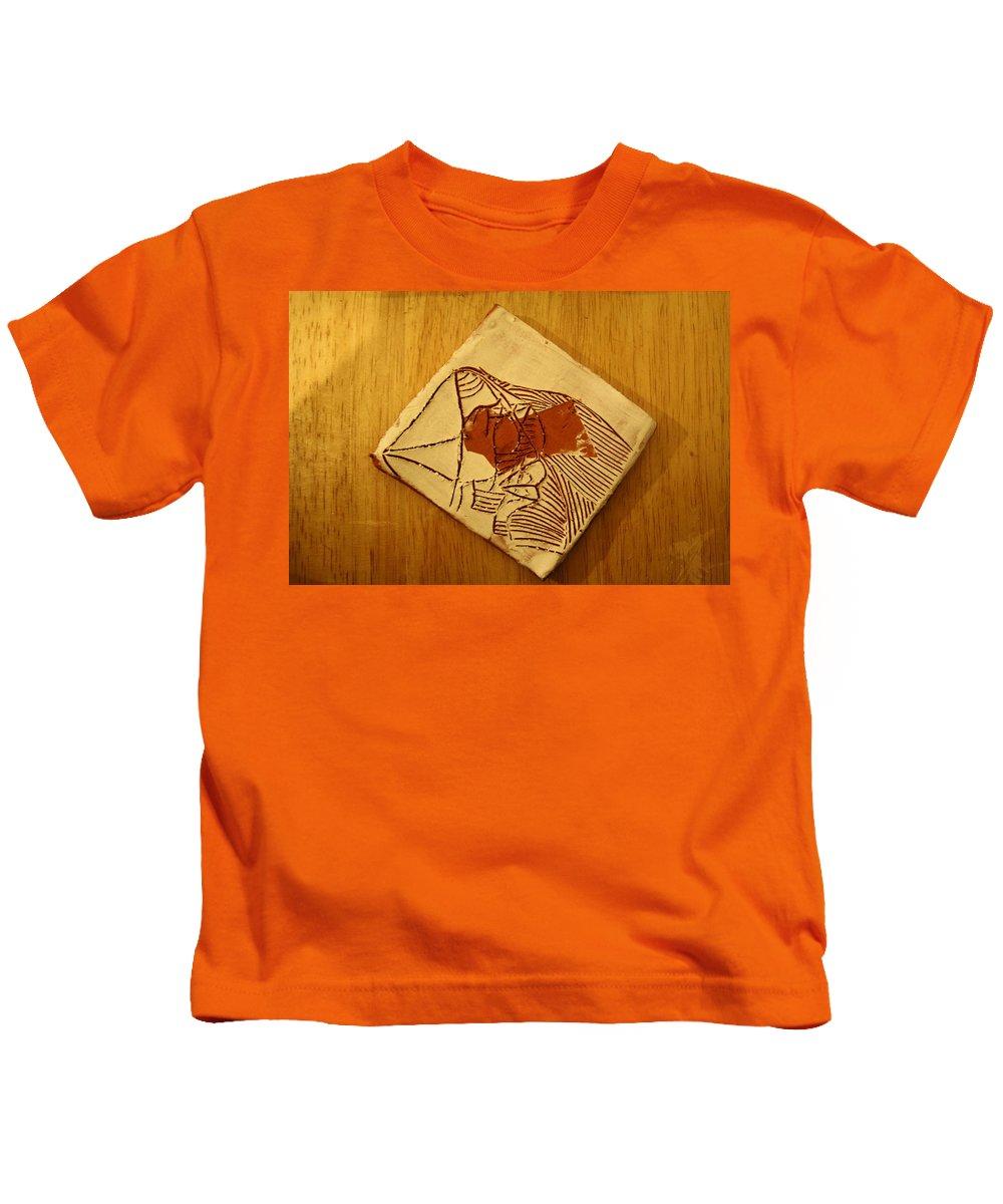 Jesus Kids T-Shirt featuring the ceramic art Abram - Tile by Gloria Ssali