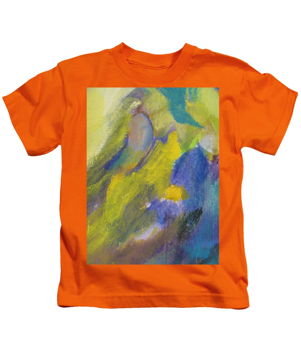 Abstact Kids T-Shirt featuring the painting Abstract Close Up 2 by Anita Burgermeister