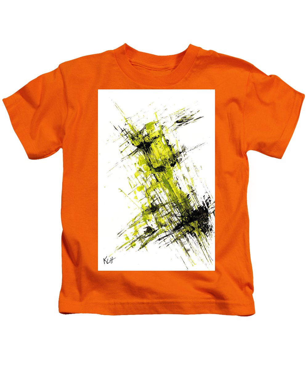 Playful Whimsical Kids T-Shirt featuring the painting Abstract Expressionism Painting 55.102411 by Kris Haas