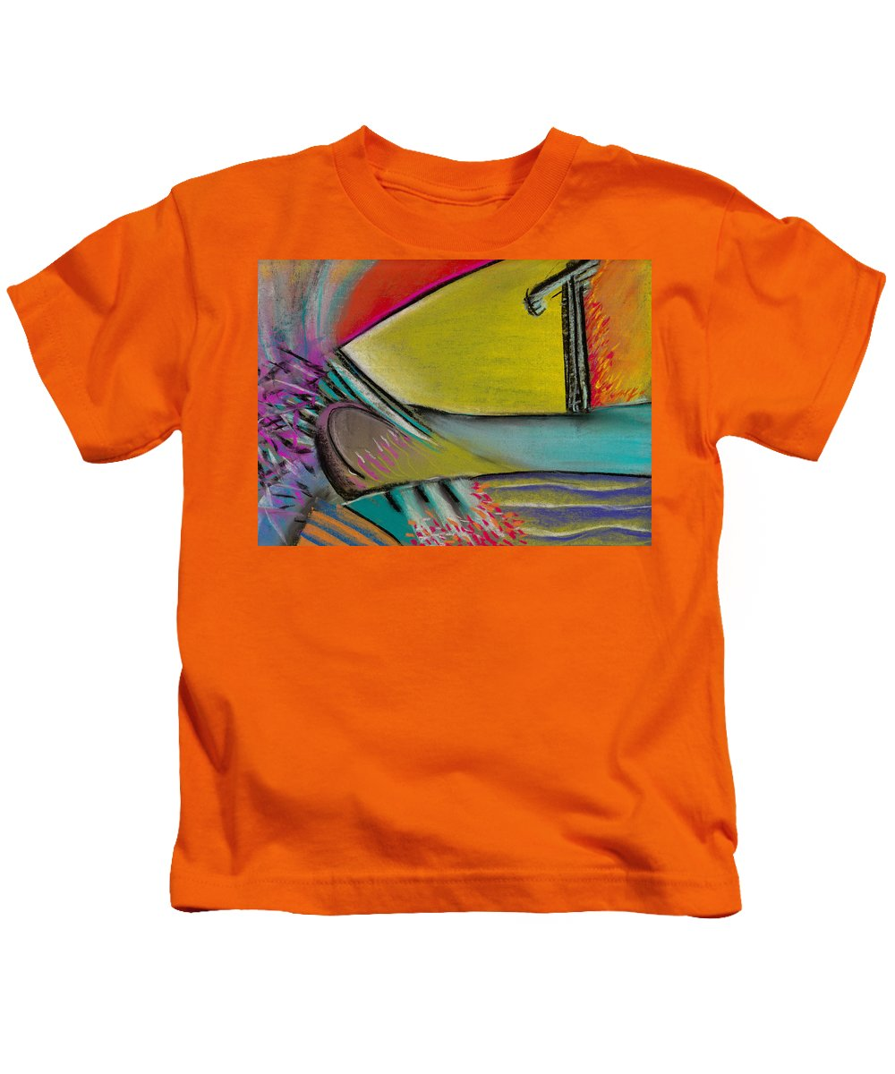 Abstract Kids T-Shirt featuring the pastel Abstract Expressive 002 by Joe Michelli