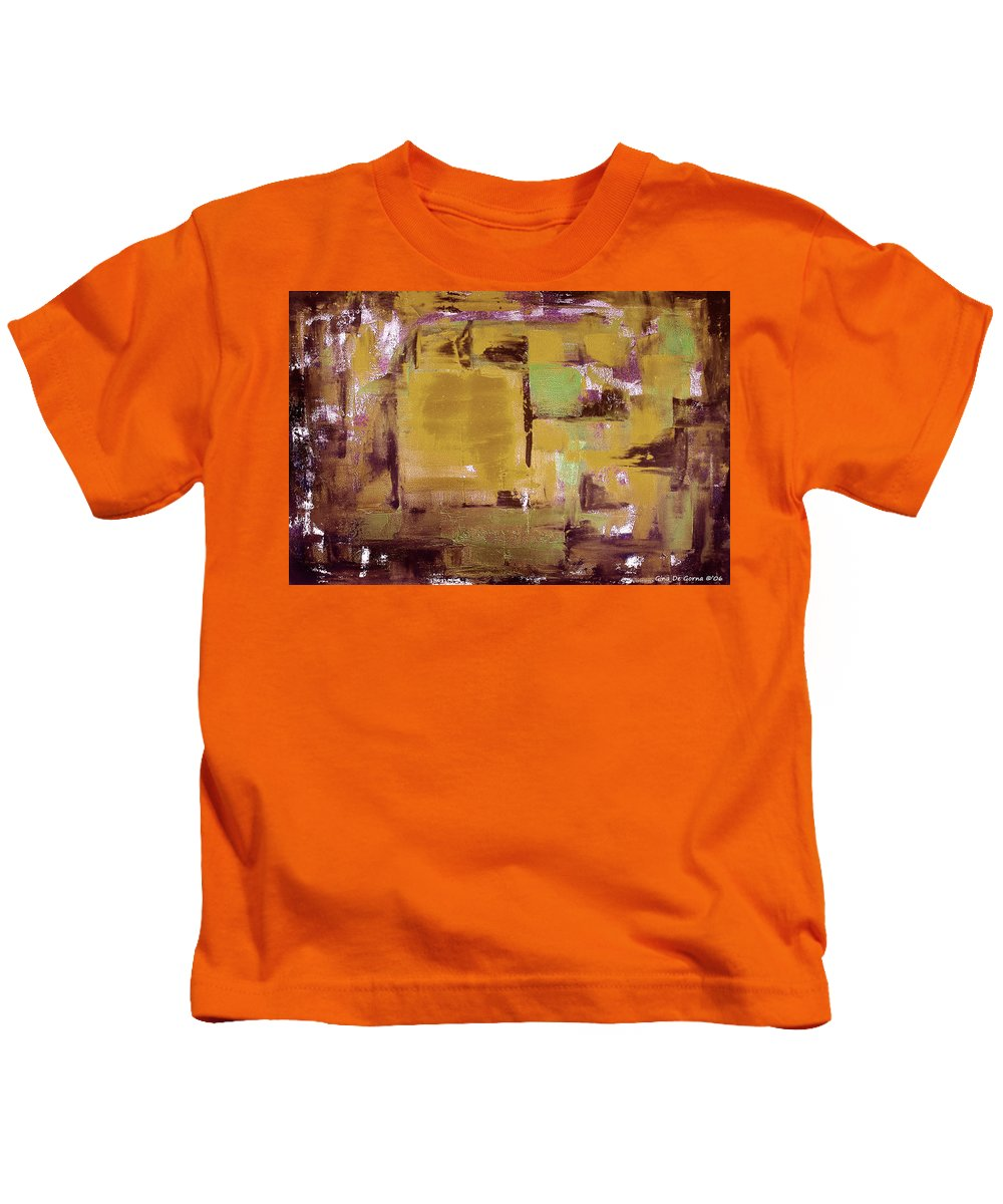 Abstract Kids T-Shirt featuring the painting Abstract by Gina De Gorna