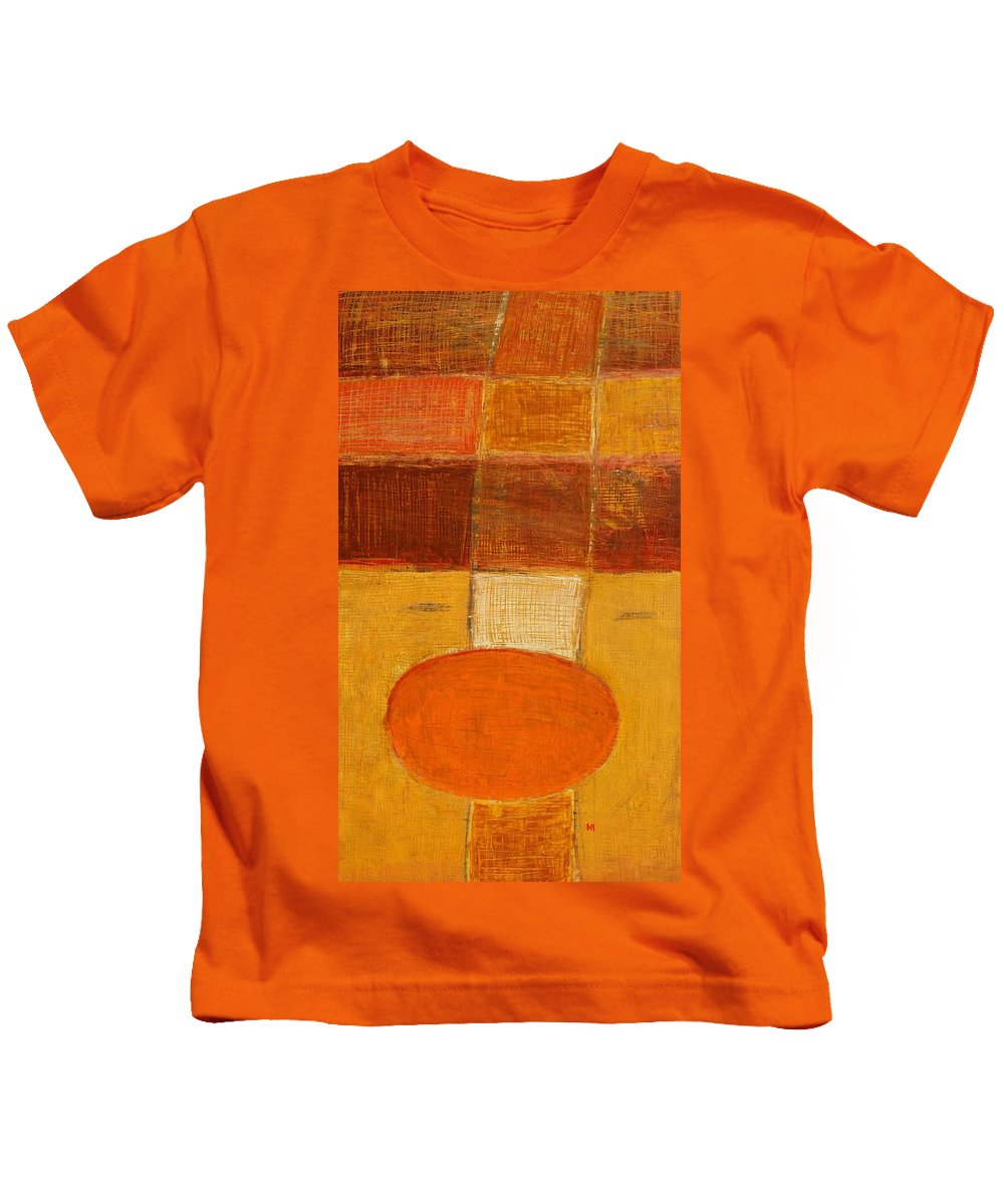 Abstract Kids T-Shirt featuring the painting All The Way by Habib Ayat