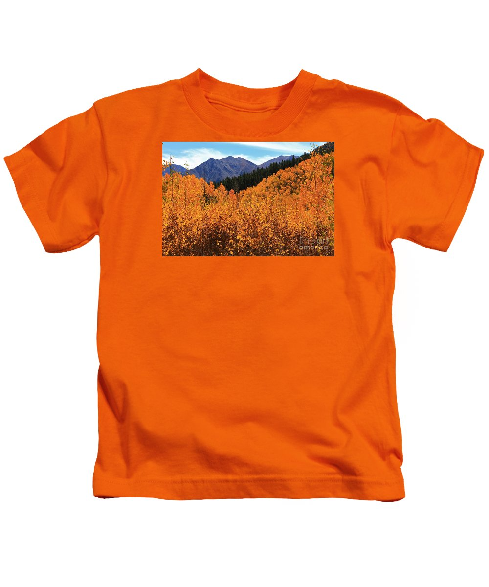 Nature Kids T-Shirt featuring the photograph An Autumn View 2 by Tonya Hance