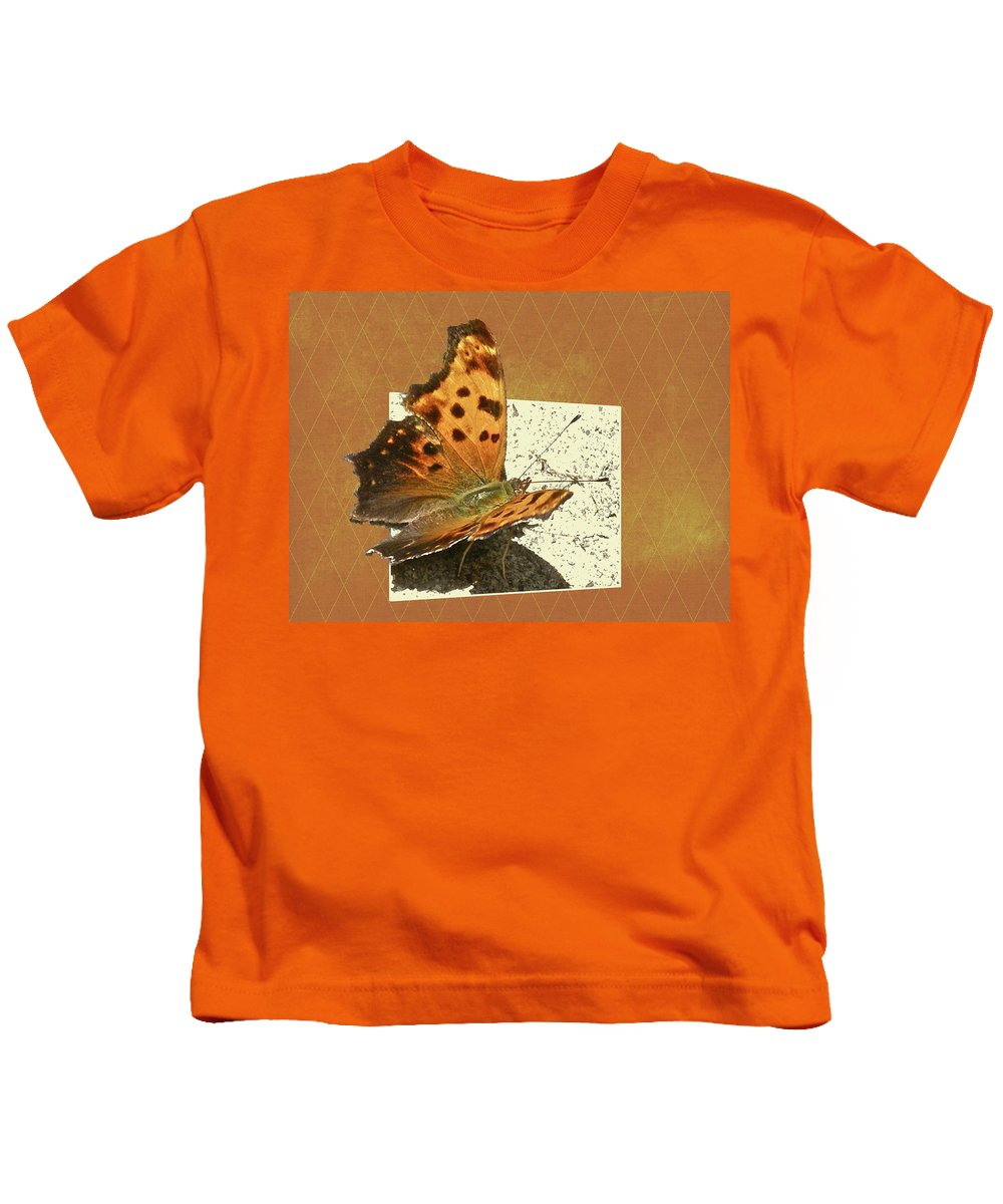 Butterfly Kids T-Shirt featuring the photograph Anglewing Butterfly by Mother Nature
