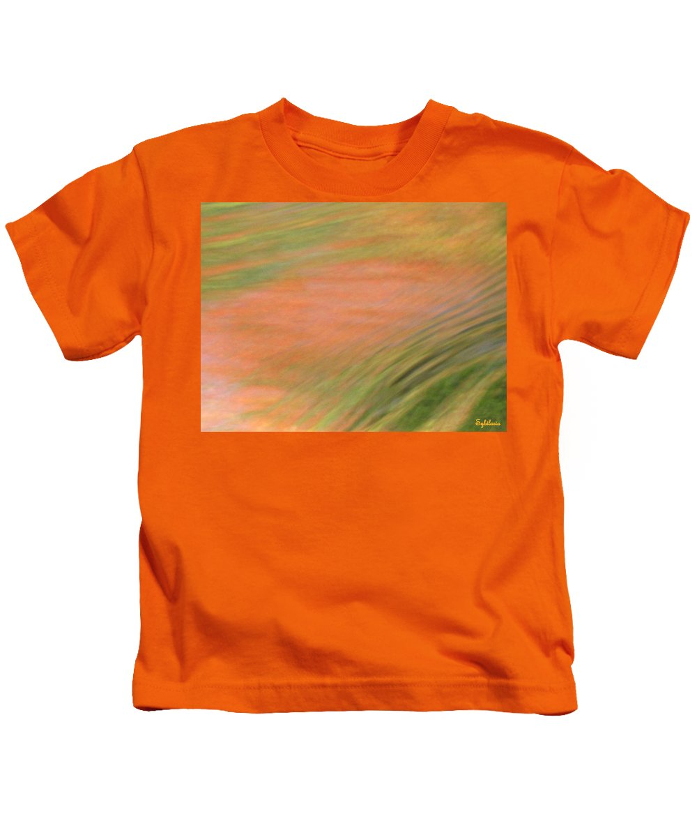 Abstract Art Kids T-Shirt featuring the photograph At The Subtle Feeling Level by Sybil Staples
