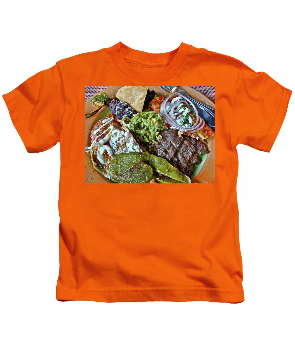 Food Kids T-Shirt featuring the photograph Authentic by Diana Hatcher