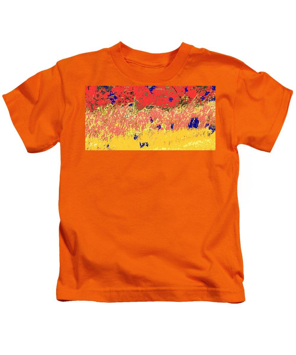 Autumn Kids T-Shirt featuring the photograph Autumn Grasses by Ian MacDonald