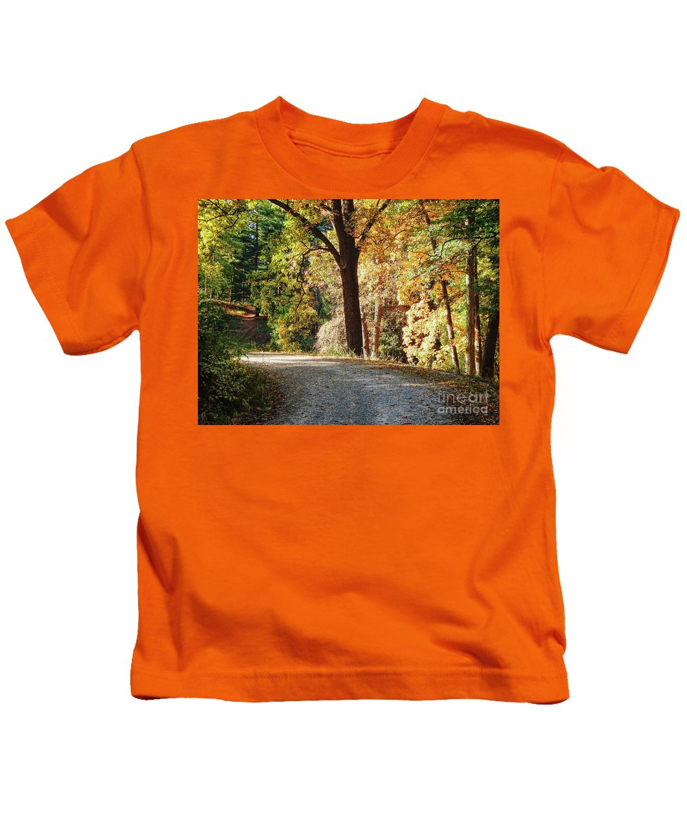 Ann Arbor Kids T-Shirt featuring the photograph Autumn In Michigan by Phil Perkins