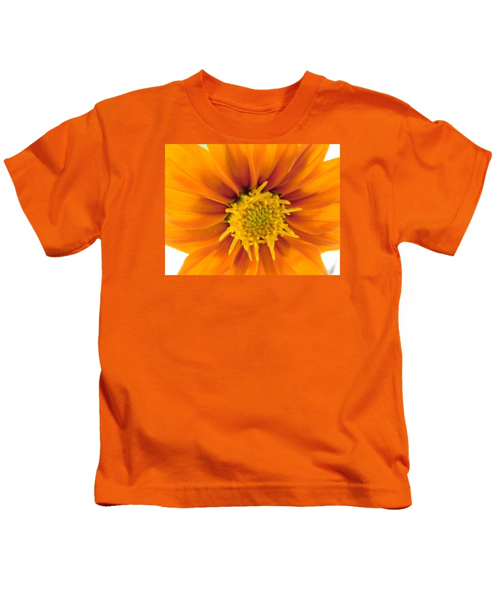 Orange Kids T-Shirt featuring the photograph Awesome Blossom by Mary Halpin