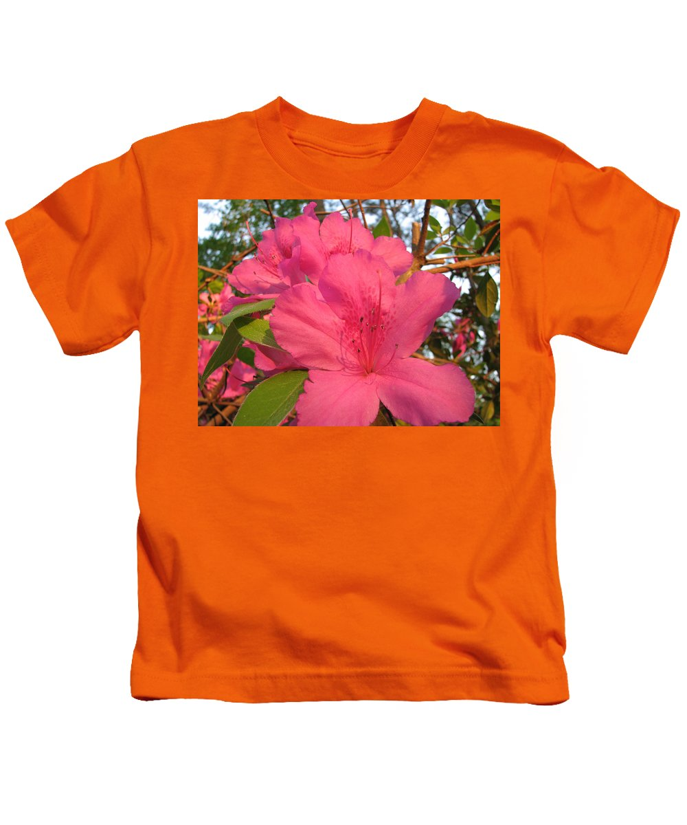 Azalea Kids T-Shirt featuring the photograph Azaleas by Stacey May