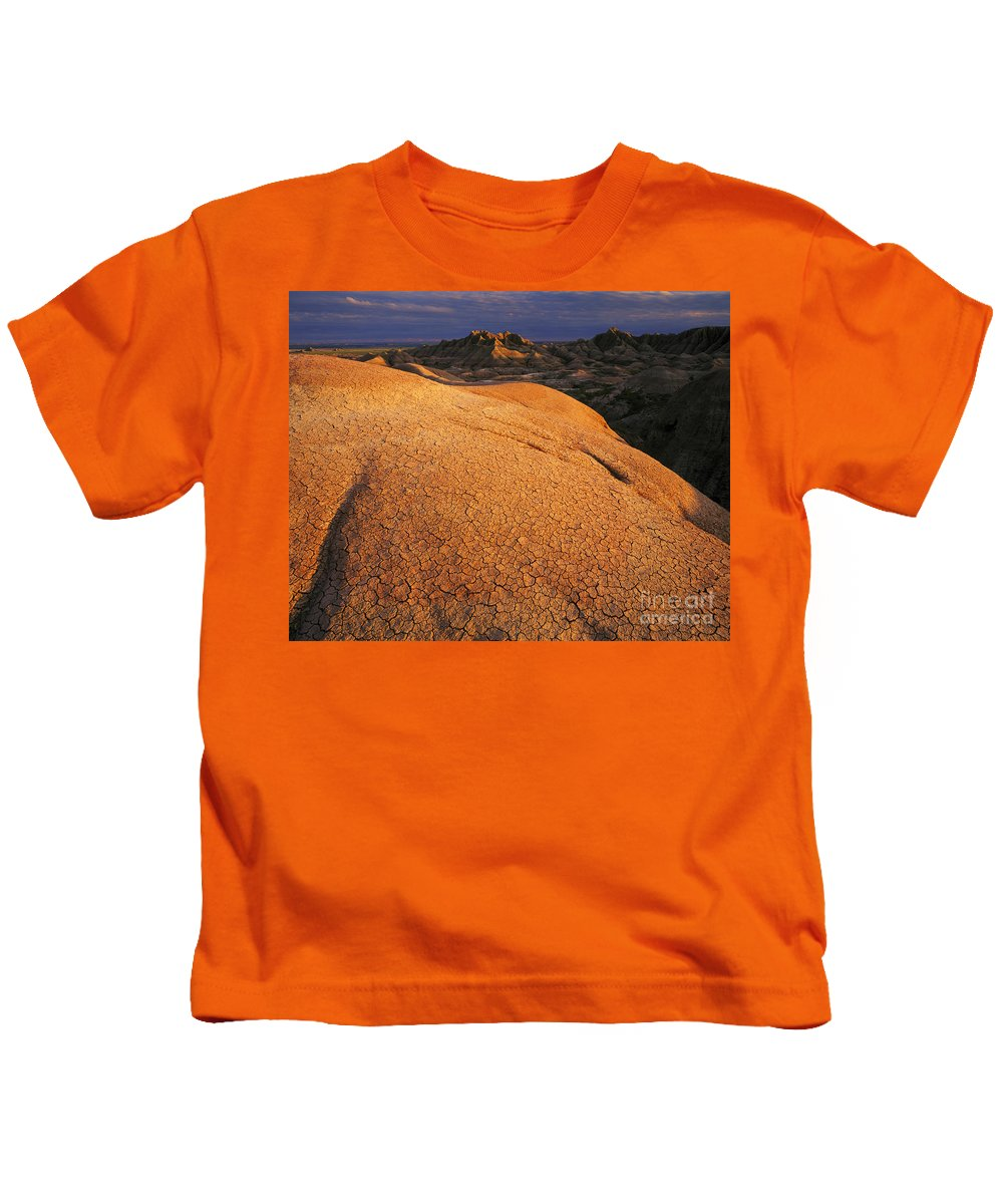 Badlands National Park Kids T-Shirt featuring the photograph Badlands National Park, Sd by Willard Clay