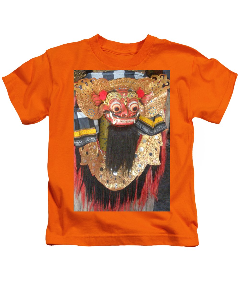 Bali Kids T-Shirt featuring the photograph Balinese Barong by Mark Sellers