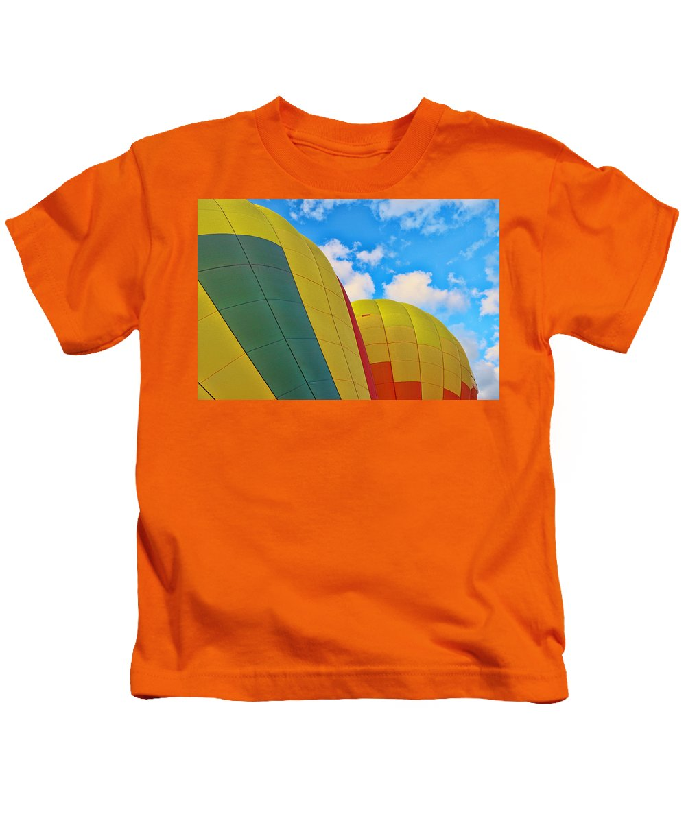 Colors Kids T-Shirt featuring the photograph Balloon Fantasy 25 by Allen Beatty