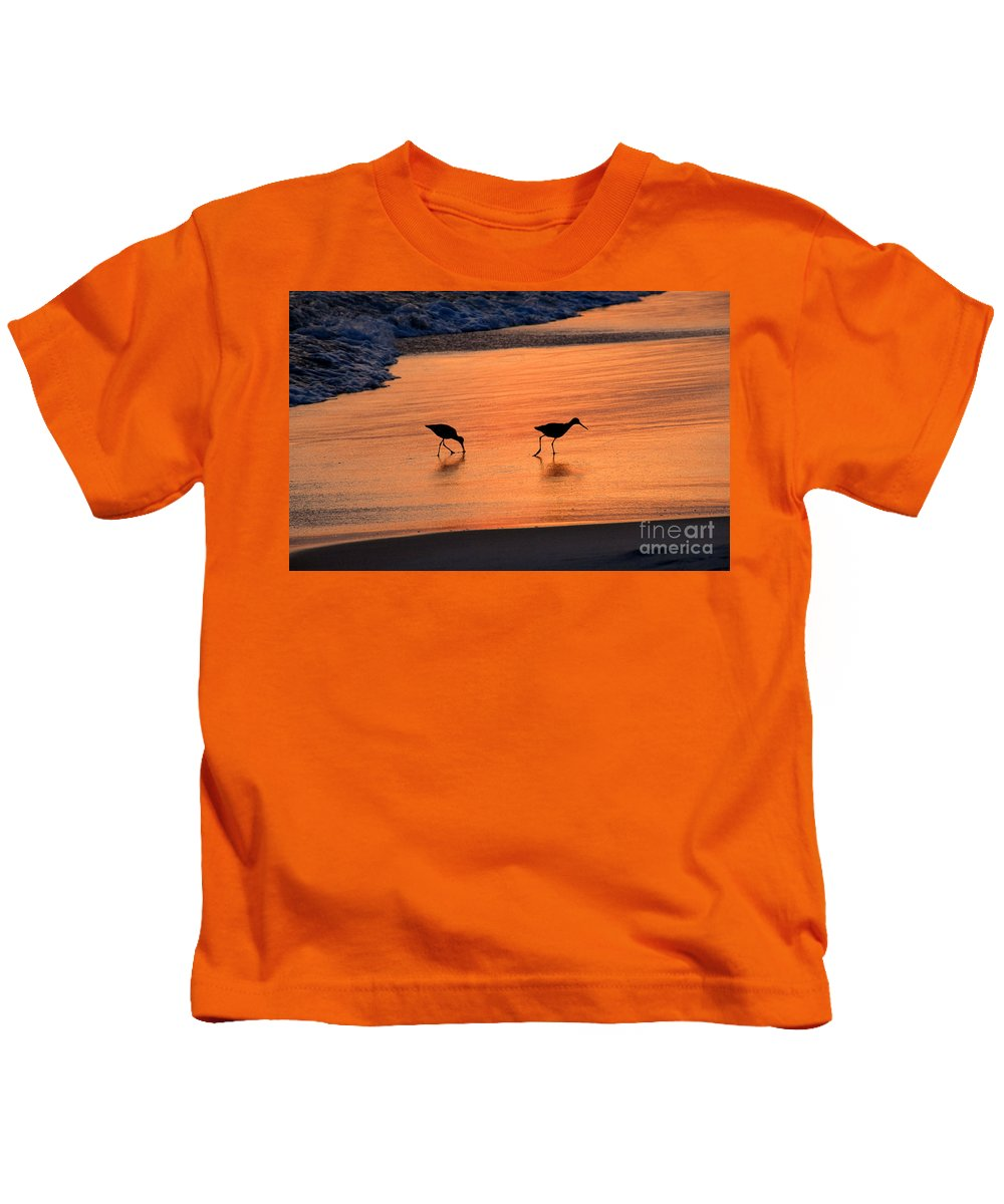 Beach Kids T-Shirt featuring the photograph Beach Couple by David Lee Thompson