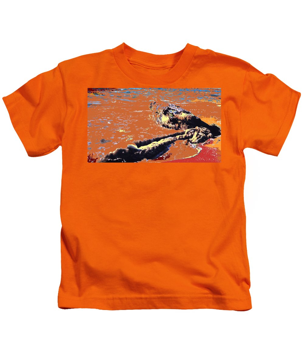Rope Kids T-Shirt featuring the photograph Beach Rope by Ian MacDonald