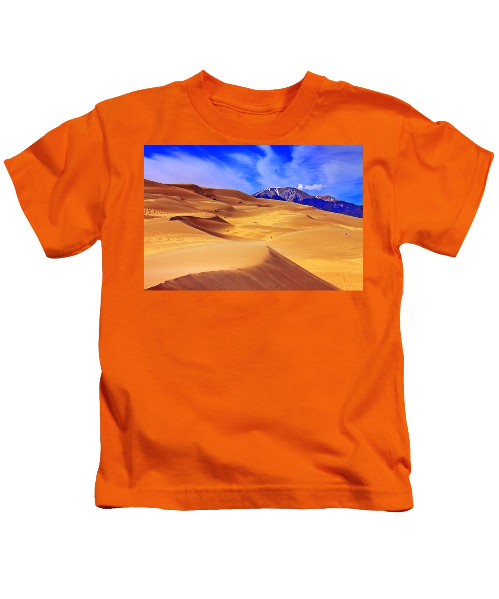 The Dunes Kids T-Shirt featuring the photograph Beauty Of The Dunes by Scott Mahon