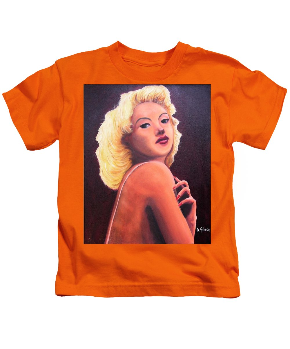 Glorso Kids T-Shirt featuring the painting Betty Grable by Dean Glorso