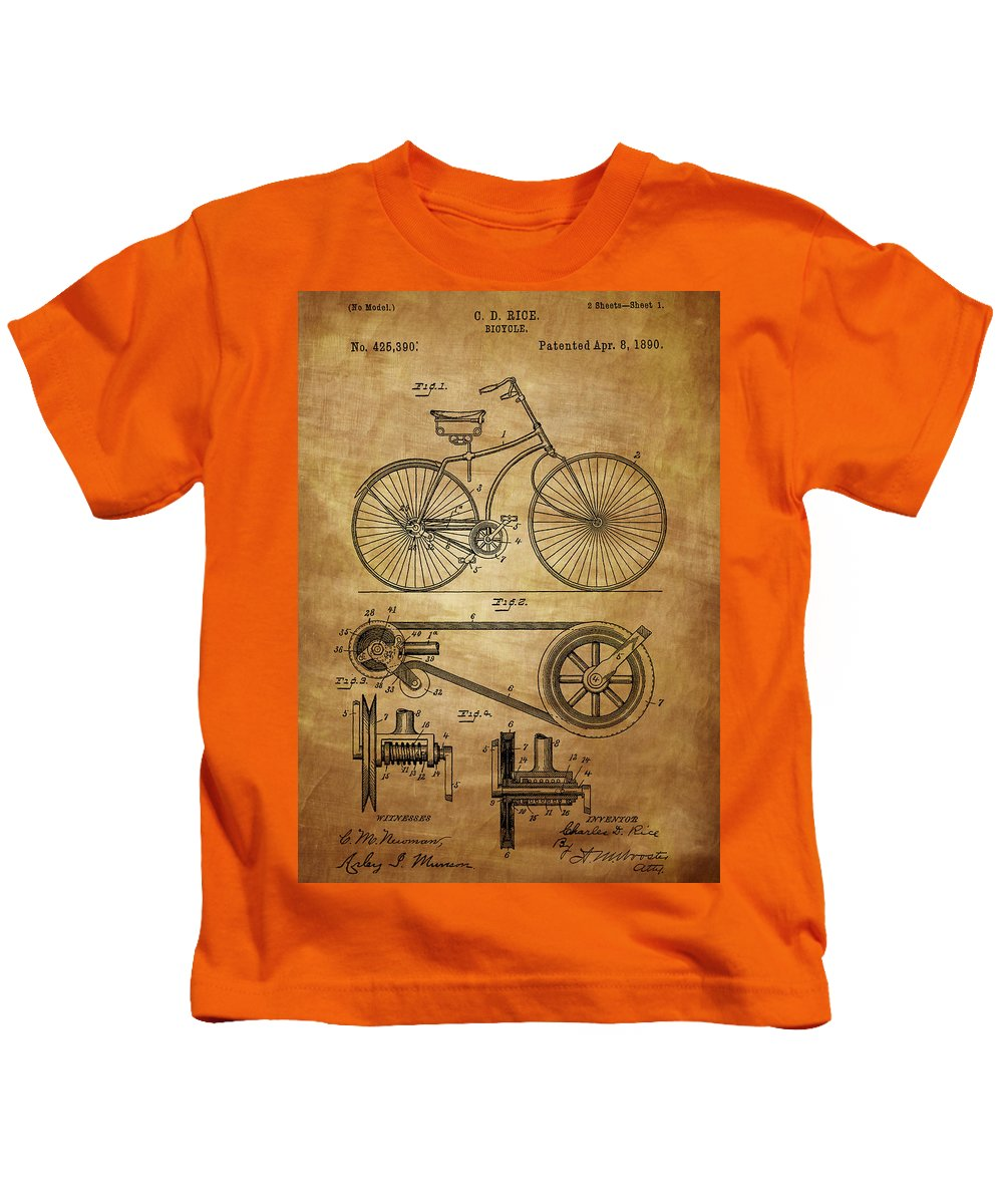 Bicycle Kids T-Shirt featuring the photograph Bicycle Patent by Chris Smith
